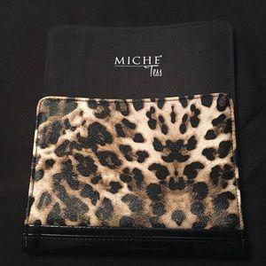 Vintage Miche petite Tess leopard shell